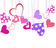 Vector valentine background with heart Stock Image
