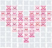 Vector valentine background with heart Stock Photography