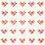 Vector valentine background with heart Stock Photos
