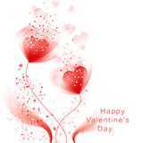 Vector valentine background with heart Royalty Free Stock Photography
