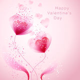 Vector valentine background with heart Royalty Free Stock Image