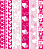 Vector Valentine border Stock Images