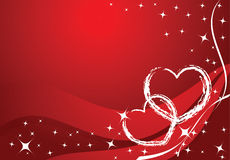 Vector valentine card. Stars and hearts Royalty Free Stock Images