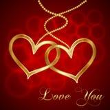 Vector Valentine Card Fotografía de archivo libre de regalías
