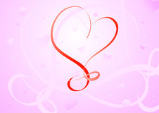 Vector valentine card Stock Photography