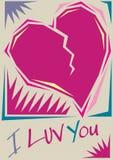 Vector Valentine card vector illustration