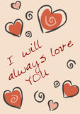 Vector Valentine card Stock Image