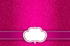 Vector Valentine Card Background Royalty Free Stock Photo