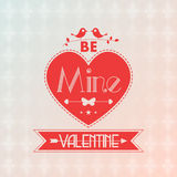 Vector Valentine card with cute birds Royalty Free Stock Images