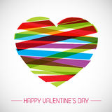 Vector valentine card with heart Royalty Free Stock Photography