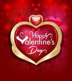 Vector valentine day  Background with Heart Illustration Royalty Free Stock Image