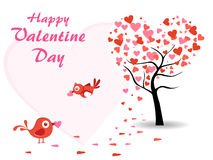 Vector valentine day background with love birds Stock Photo