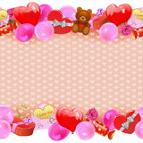 Vector Valentine Day Border Royalty Free Stock Images