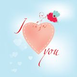 Vector valentine day card Stock Photography