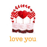 Vector Valentine day hand drawn artistic design Stock Photo
