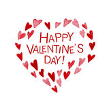 Vector Valentine day hand drawn artistic design element isolated on white background. Stock Image