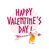 Vector Valentine day hand drawn artistic design element isolated on white background. Stock Photo