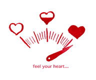 Vector Valentine day hand drawn artistic design Stock Photography