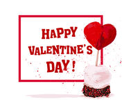 Vector Valentine day hand drawn artistic design Royalty Free Stock Photos