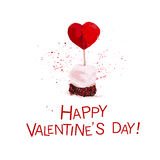 Vector Valentine day hand drawn artistic dessert Royalty Free Stock Photography