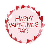 Vector Valentine day hand drawn artistic wreath design Royalty Free Stock Photography