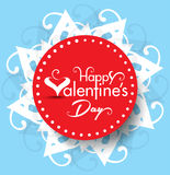 Vector valentine day Text Background Illustration Royalty Free Stock Photos