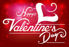 Vector valentine day Text Background Illustration with Heart Stock Images