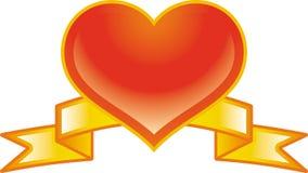 Vector valentine emblem Stock Photo