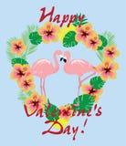 Vector Valentine Flamingos libre illustration