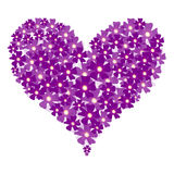 Vector valentine floral heart Royalty Free Stock Images