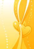 Vector Valentine golden wallpaper Royalty Free Stock Image