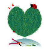 Vector valentine grass heart Royalty Free Stock Images