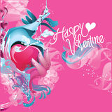 Vector valentine greeting card and poster Stock Image