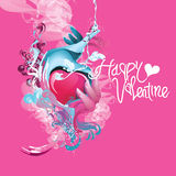 Vector valentine greeting card and poster Royalty Free Stock Photography