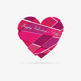 Vector Valentine heart Royalty Free Stock Images