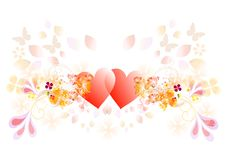 Vector valentine hearts Royalty Free Stock Photos