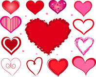 Vector valentine hearts Royalty Free Stock Image