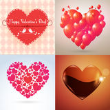 Vector Valentine hearts set Stock Photo