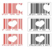 Vector Valentine Love barcodes Stock Image