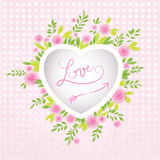 Vector Valentine's background. Discreet floral motive with space for your text. Stock Photo