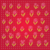 Vector Valentine's background. Discreet floral motive with space for your text. Stock Images