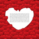 Vector Valentine`s card red theme background Stock Photography