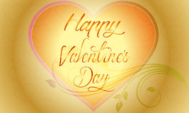 Vector Valentine's day background with abstract hearts and flower Royalty Free Stock Photos