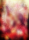 Vector Valentine's Day background. Blurred template, holiday. In Royalty Free Stock Photo