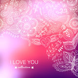 Vector Valentine's Day background. Blurred template, holiday. In Royalty Free Stock Photography