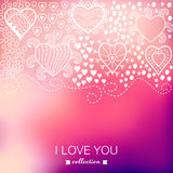 Vector Valentine's Day background. Blurred template, holiday. In Royalty Free Stock Image