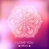 Vector Valentine's Day background. Blurred template, holiday. In Stock Image