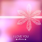 Vector Valentine's Day background. Blurred template, holiday. In Stock Images