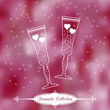 Vector Valentine's Day background Royalty Free Stock Image