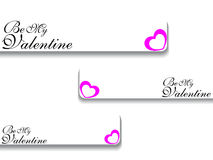 Vector valentine's day banner Royalty Free Stock Image